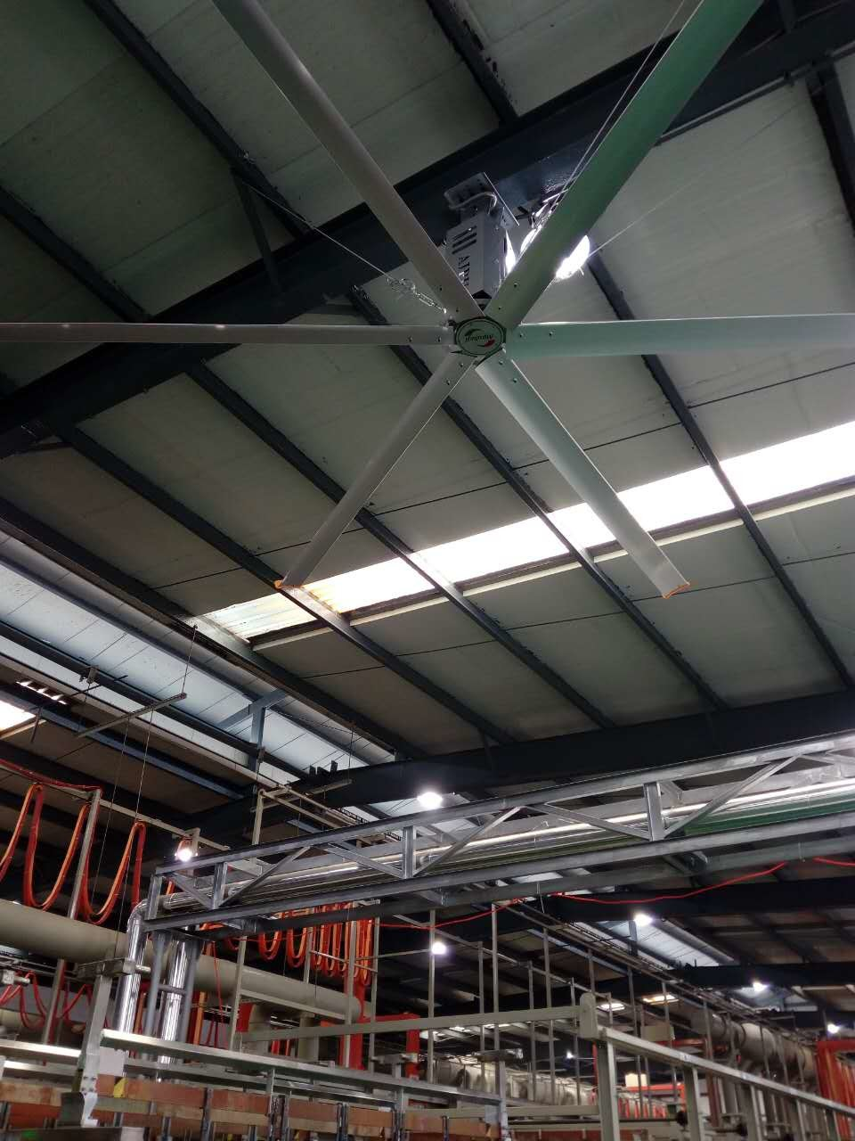 Modern Warehouse Ceiling Fans 7Ft Diameter Small Industrial Ceiling Fan