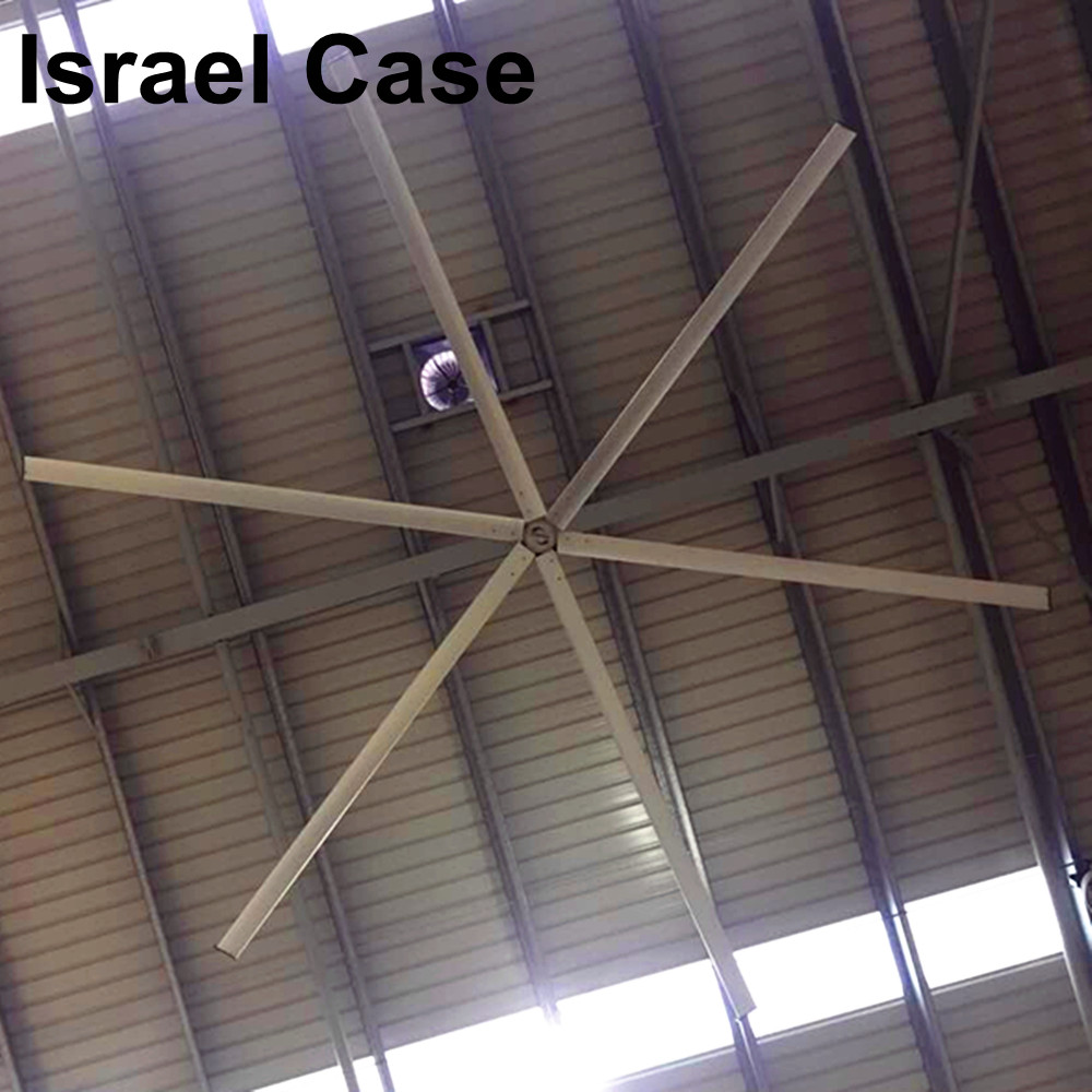 Awf52 Hvls Ceiling Fans Air Cooling 1200mm Height For