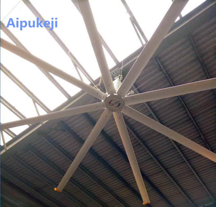 High Volume Large Garage Ceiling Fan , 24 Foot Power Saving Ceiling Fans