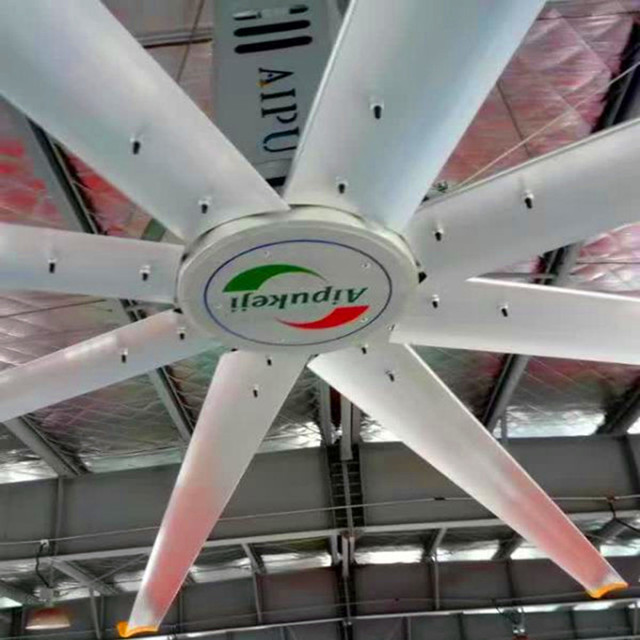 Aipu 24 ft Diameter Factory Ceiling Fans / Big Commercial Ceiling Fans For Stations