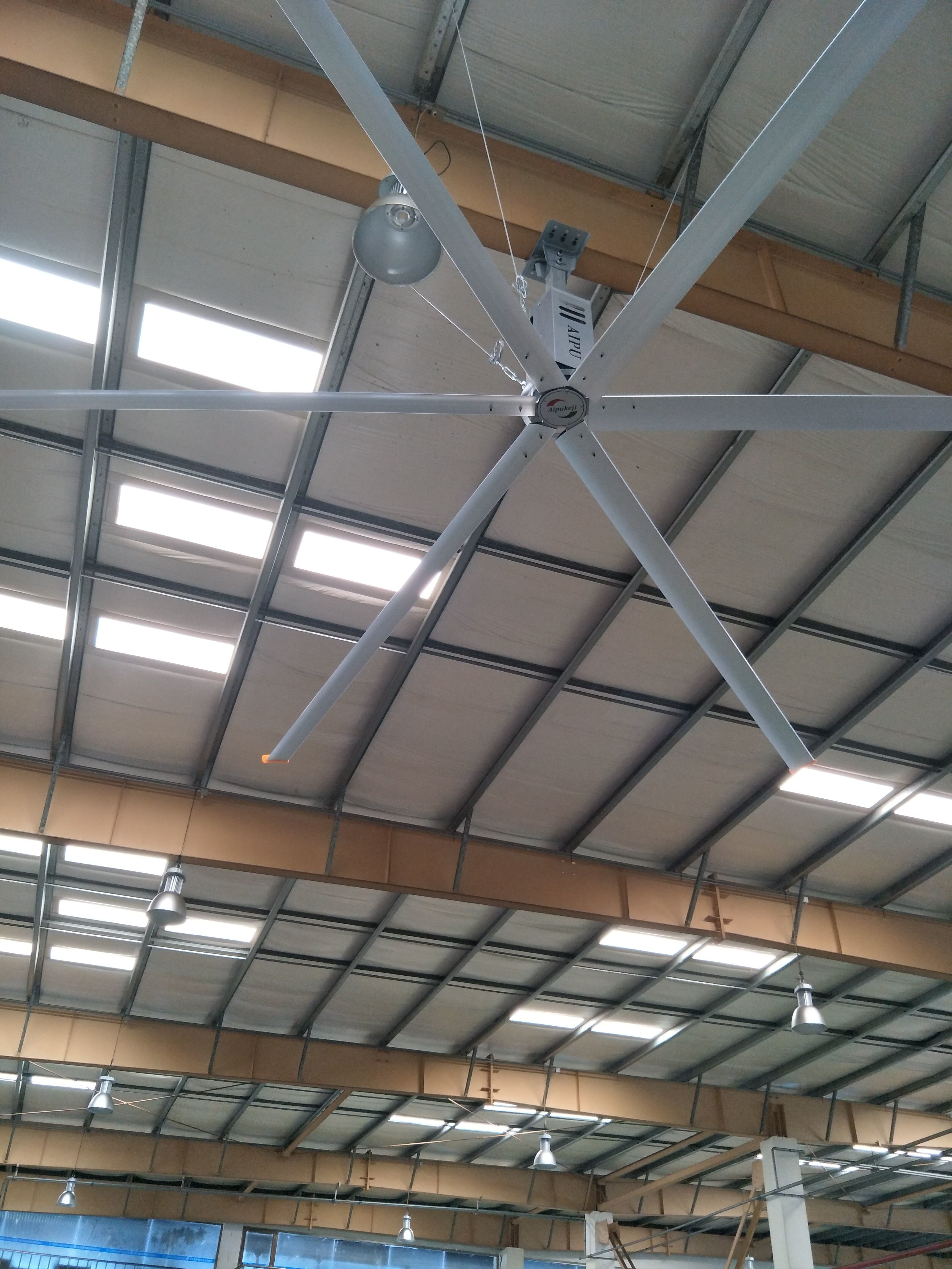 3.4m HVLS Factory Ceiling Fans / Large Shop Ceiling Fans With Aluminum Blade