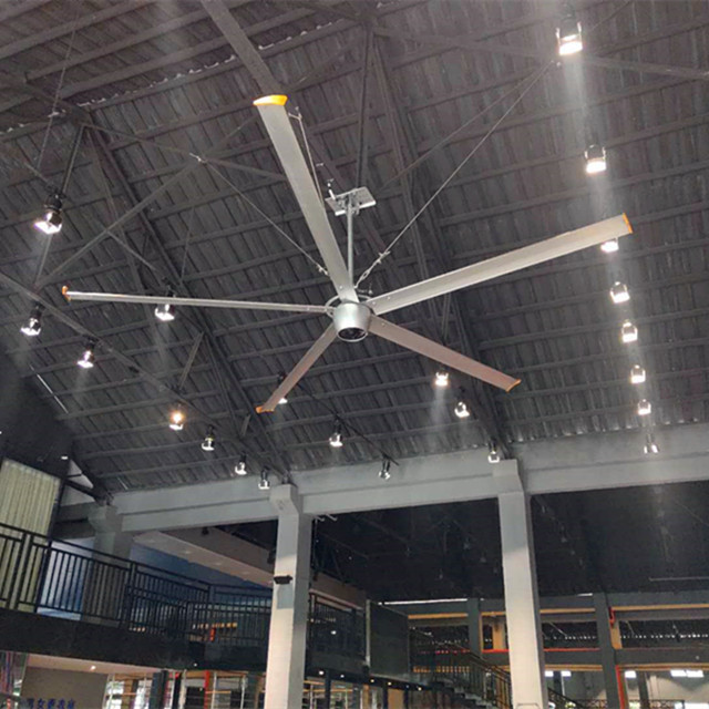 2 4m Industrial Giant Ceiling Fan 8 Ft Restaurant Ceiling Fans With Aluminum Alloy Blades