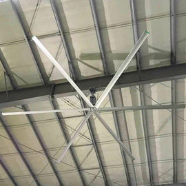 AC Motor HVLS Ceiling Fans 0.75kw 10 Foot Ceiling Fan For Large Facilities